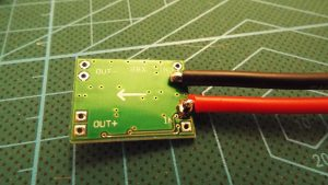 Power soldered to the Voltage regulator