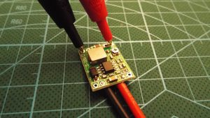 Testing the output voltage