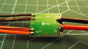 Balance lead and barrel connector soldered