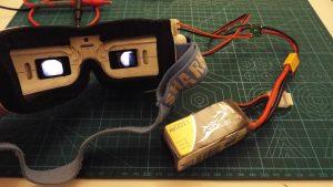 Fatshark goggles running from 4S LiPo