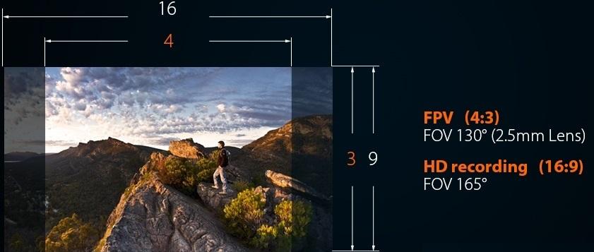 Runcam Split FPV and HD Camera video ratios