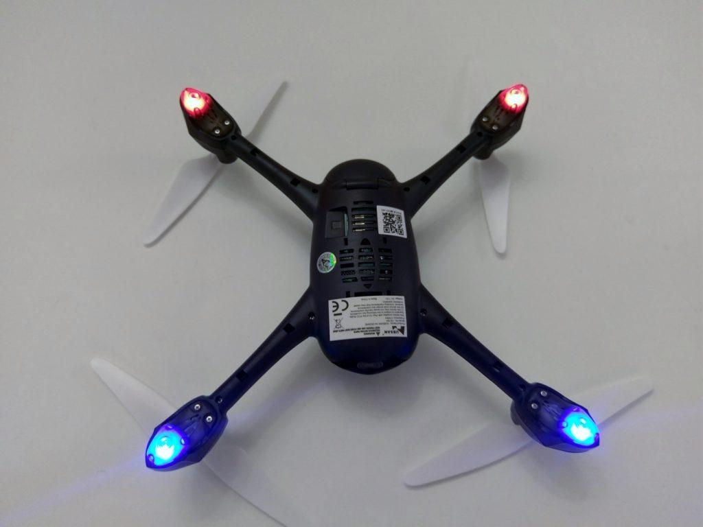 Hubsan H216A X4 Desire Pro Review LEDs