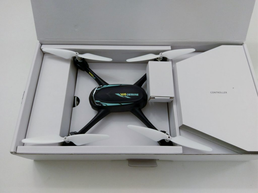 Hubsan H216A X4 Desire Pro Review Packaging